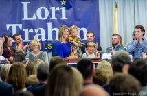 Lori Loureiro Trahan election night celebration, Lowell, MA (Photo Feligenio Medeiros - Feel Portugal.com)