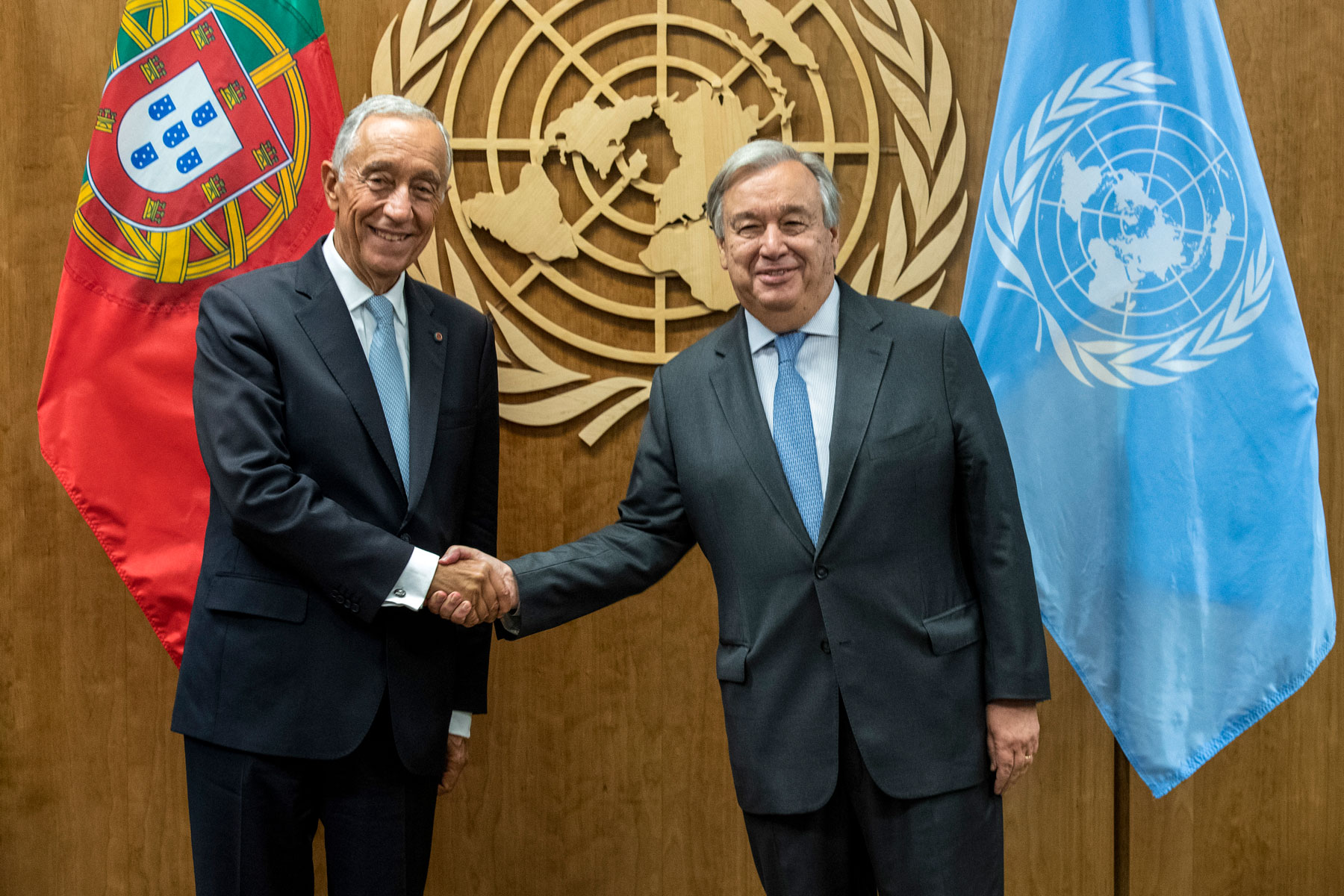 Marcelo Rebelo de Sousa, President of Portugal and Antonio Guterres