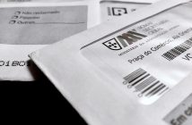 envelope with ballot papers for Portuguese legislative elections