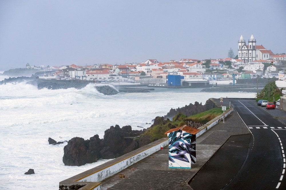 "Marine unrest caused by hurricane ""Lorenzo"" at the Port of São Mateus in Angra do Heroísmo, Terceira, Azores, 2 October 2019. Photo: ANTÓNIO ARAÚJO/LUSA"