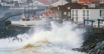 Marine unrest caused by hurricane