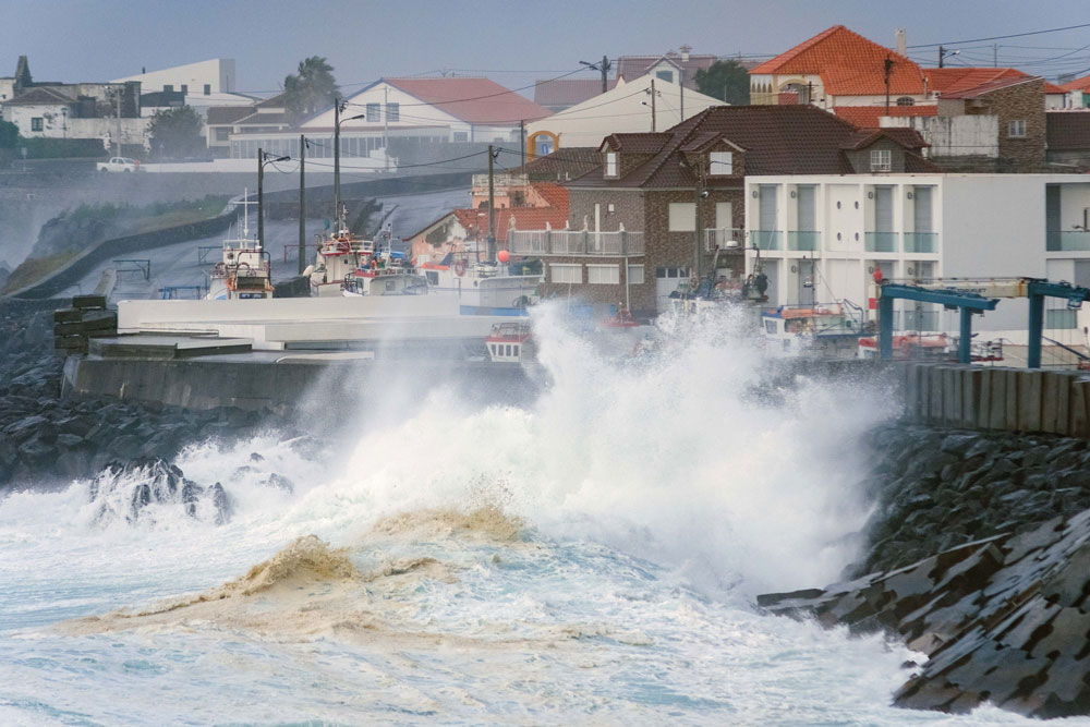 "Marine unrest caused by hurricane ""Lorenzo"" in Angra do Heroísmo, Terceira, Azores, 2 October 2019. Photo: ANTÓNIO ARAÚJO/LUSA"