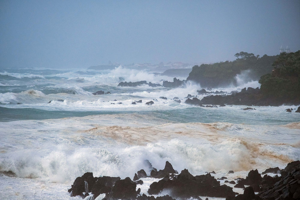 "Marine unrest caused by hurricane ""Lorenzo"" on the southern coast of the municipality of Angra do Heroísmo, Terceira, Azores, 2 October 2019. Photo: ANTÓNIO ARAÚJO/LUSA"