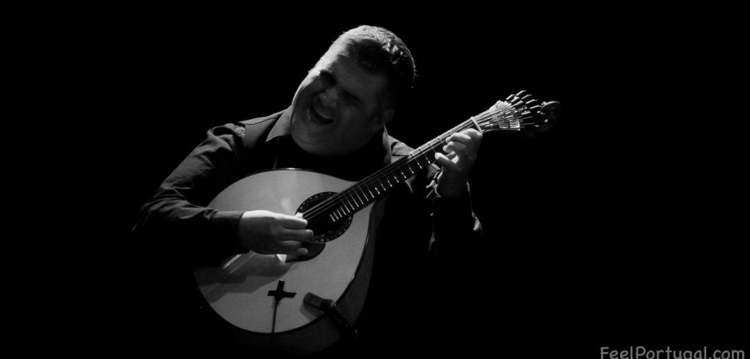 Portuguese Guitar Player on stage