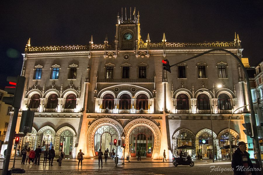Rossio Station in Lisbon, Portugal
