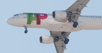 TAP airlines airplane in flight