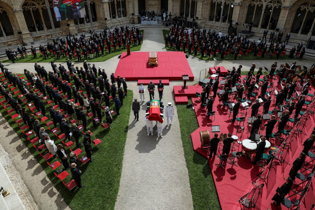 Funeral service for the late Portuguese President Jorge Sampaio at Jerónimos Monastery, Portugal, MIGUEL A. LOPES//LUSA