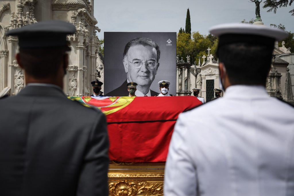 The urn during the funeral service for the late Portuguese President Jorge Sampaio at Alto de São João cemetery, Portugal, RODRIGO ANTUNES/LUSA