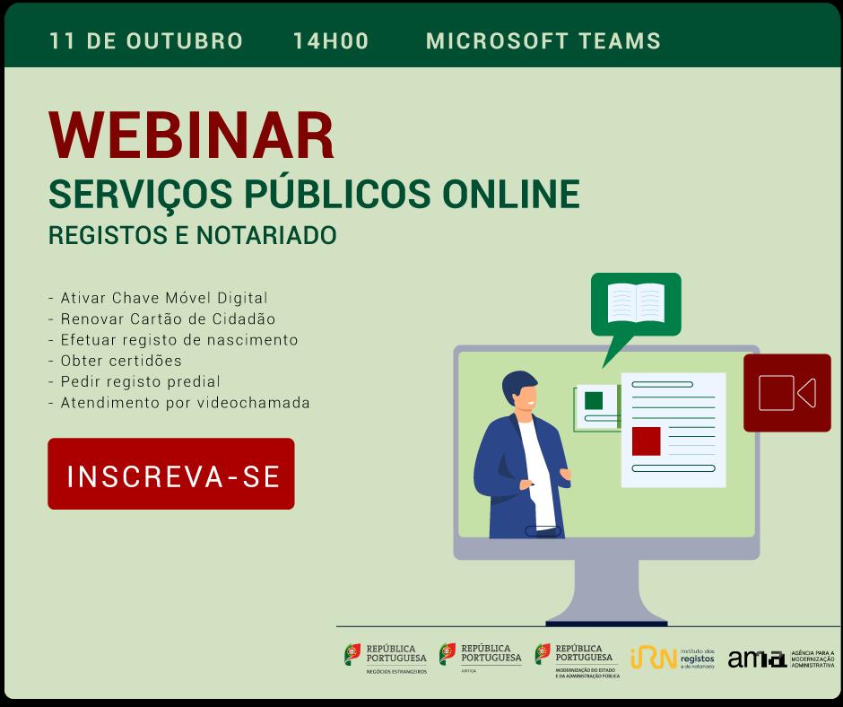 Webinar - Serviços Públicos Online
